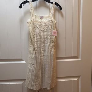 BNWT Juicy Couture Girls Beige Lace Dress